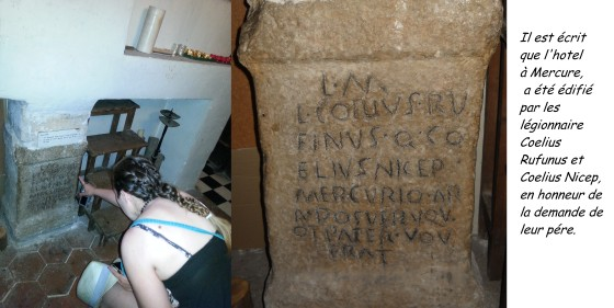 Hôtel païen pour le dieu romain Mercure dans l'église de Tourrettes sur loup (alpes maritime France)